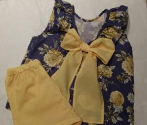 Ropa infantil amarilla y azul_Como Soles