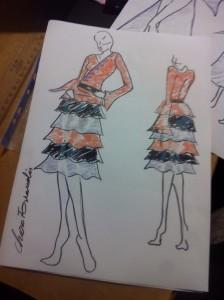 boceto vestido