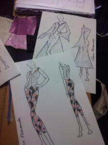 bocetos ropa femenina