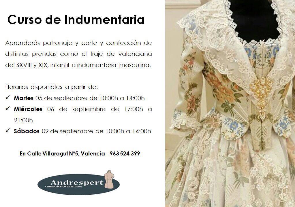 curso indumentaria valenciana andrespert